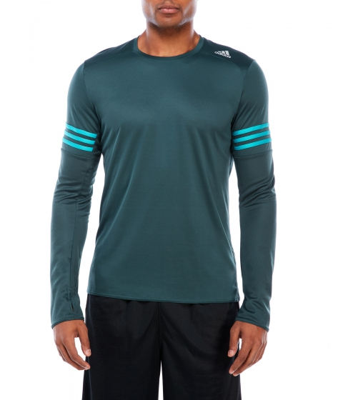 Imbracaminte Barbati adidas Perforated Performance Long Sleeve Tee Mineral Green
