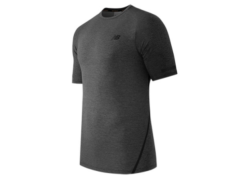 Imbracaminte Barbati New Balance Trinamic Short Sleeve Shirt Heather Charc