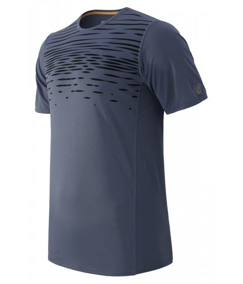 Imbracaminte Barbati New Balance Accelerate Short Sleeve Printed Shirt Grey