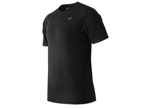 Imbracaminte Barbati New Balance Performance Merino Short Sleeve Black