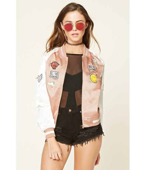 Imbracaminte Femei Forever21 Amazing Patched Bomber Jacket Blush