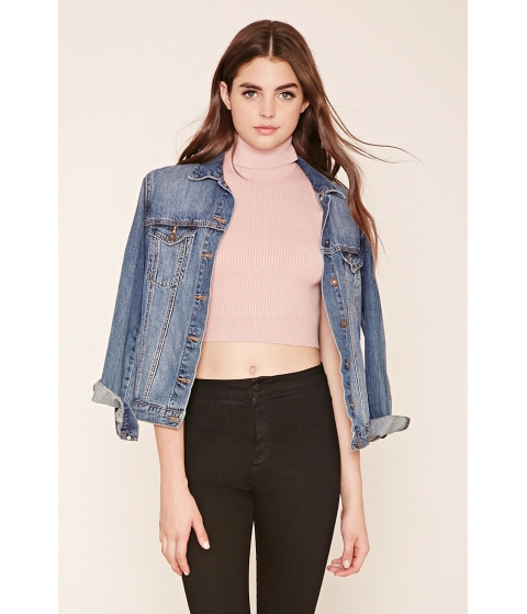 Imbracaminte Femei Forever21 Ribbed Knit Crop Top Dusty pink