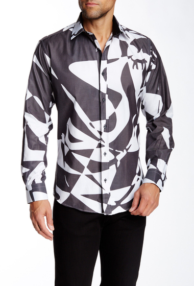 Imbracaminte Barbati Dolce Guava Abstract Long Sleeve Shirt Black-White