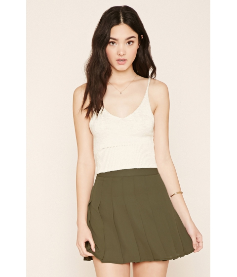 Imbracaminte Femei Forever21 Pleated Mini Skirt Olive