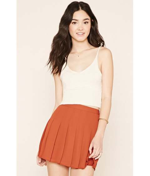 Imbracaminte Femei Forever21 Pleated Mini Skirt Rust