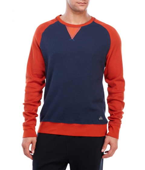 Imbracaminte Barbati Buffalo David Bitton Long Sleeve Color Block Waffle Tee Whale