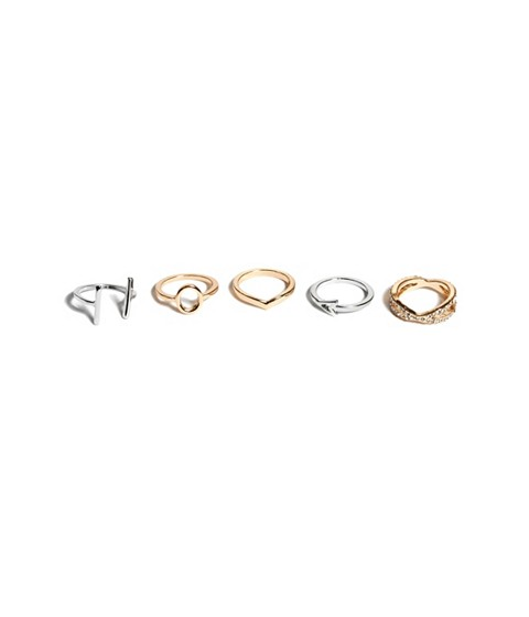 Bijuterii Femei GUESS Mixed-Metal Midi Ring Set multi