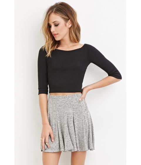 Imbracaminte Femei Forever21 Marled Skater Skirt Heather grey