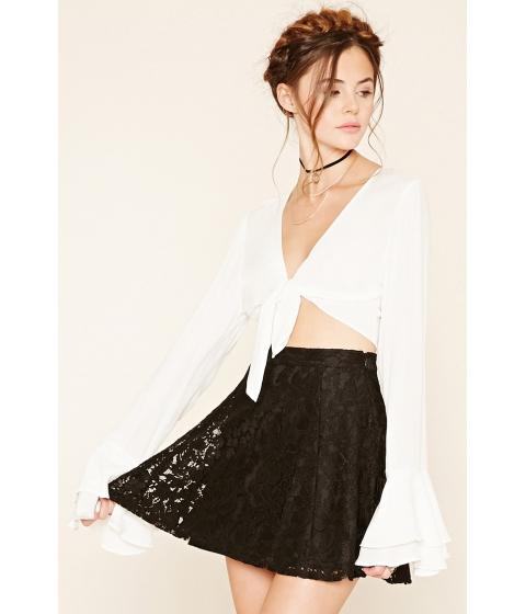 Imbracaminte Femei Forever21 Floral Lace Skater Skirt Black