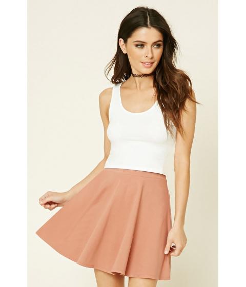 Imbracaminte Femei Forever21 Stretch-Knit Flared Skirt Mauve