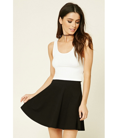 Imbracaminte Femei Forever21 Stretch-Knit Flared Skirt Black