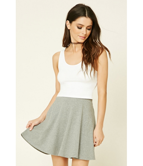 Imbracaminte Femei Forever21 Stretch-Knit Flared Skirt Heather grey