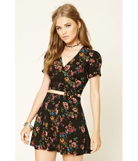 Imbracaminte Femei Forever21 Pleated Floral Mini Skirt Blackmauve