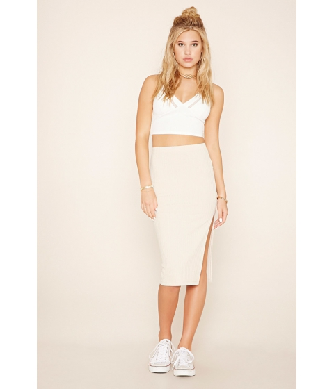 Imbracaminte Femei Forever21 Ribbed Pencil Skirt Beige