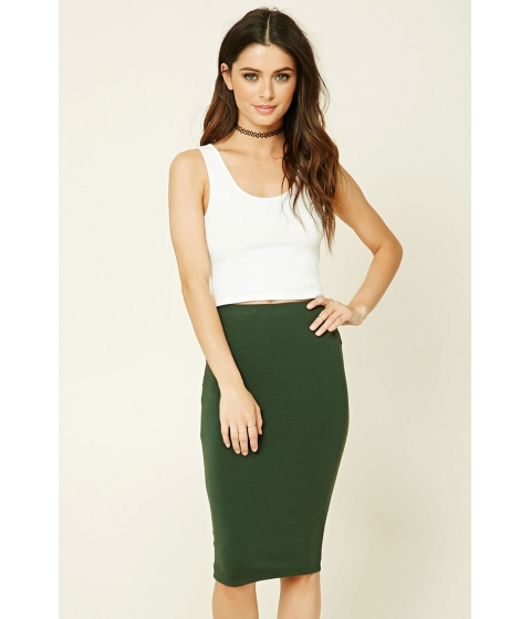 Imbracaminte Femei Forever21 Stretch-Knit Bodycon Skirt Foliage