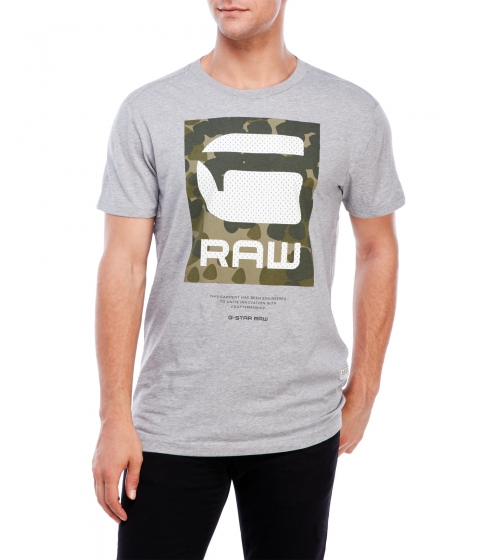 Imbracaminte Barbati G-STAR RAW Beamrac Short Sleeve Tee Grey Heather