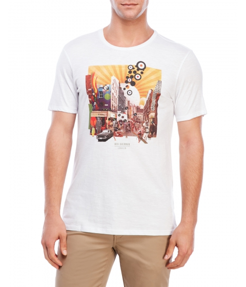Imbracaminte Barbati Ben Sherman Graphic Crew Neck Tee White