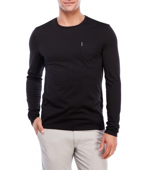 Imbracaminte Barbati Ben Sherman Crew Neck Long Sleeve Tee Black