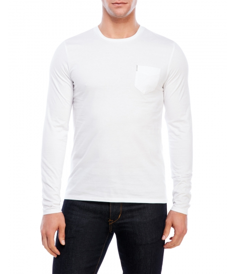 Imbracaminte Barbati Ben Sherman Crew Neck Long Sleeve Tee White