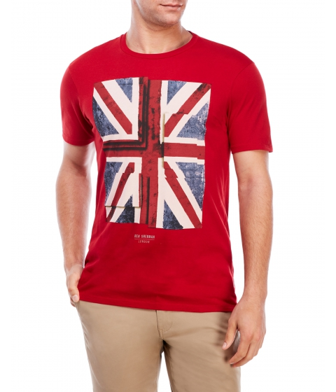 Imbracaminte Barbati Ben Sherman Graphic Crew Neck Tee Red