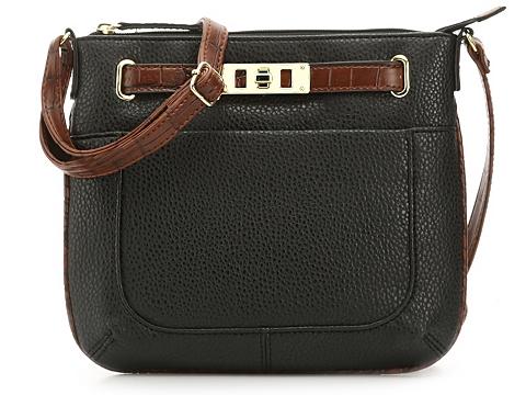 Accesorii Femei Kelly Katie Kelly Katie Elaina Croc Trim Crossbody Bag Black