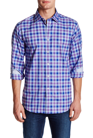 Imbracaminte Barbati Bugatchi Gingham Classic Fit Shirt ORCHID