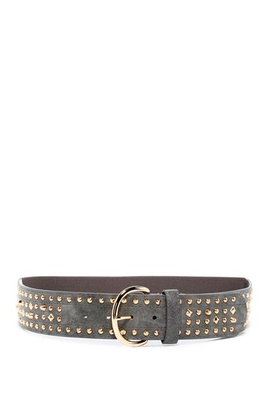 Accesorii Femei Linea Pelle Studded Leather Belt DISTRESSED