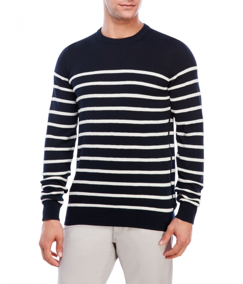 Imbracaminte Barbati Ben Sherman Stripe Knit Sweater Navy