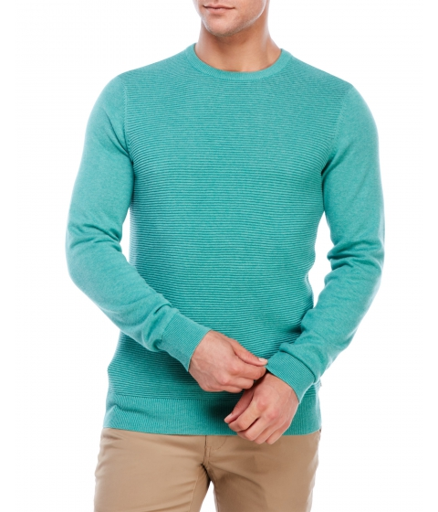 Imbracaminte Barbati Ben Sherman Crew Neck Ripple Stitch Sweater Jade Green