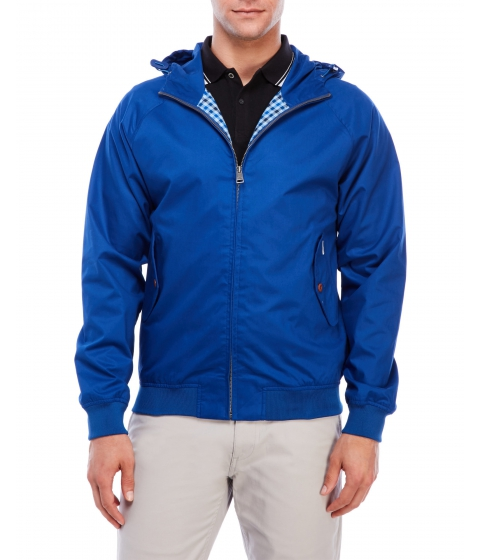Imbracaminte Barbati Ben Sherman Hooded Zip-Up Jacket Sapphire