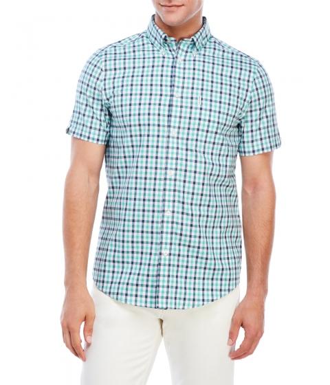 Imbracaminte Barbati Ben Sherman Button-Down Gingham Short Sleeve Shirt Jade Multi