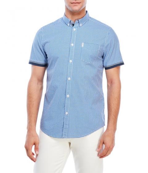Imbracaminte Barbati Ben Sherman Gingham Short Sleeve Shirt Royal Blue Multi