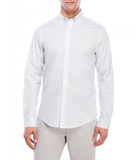 Imbracaminte Barbati Ben Sherman Dark Dot Regular Fit Sport Shirt White