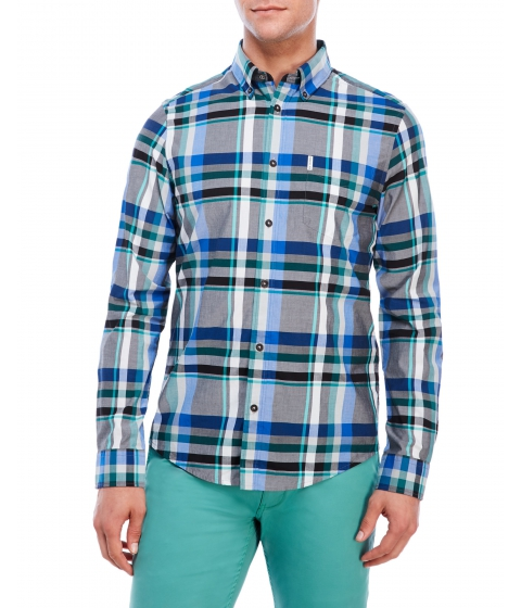 Imbracaminte Barbati Ben Sherman Plaid Woven Button-Down Shirt Bright Royal