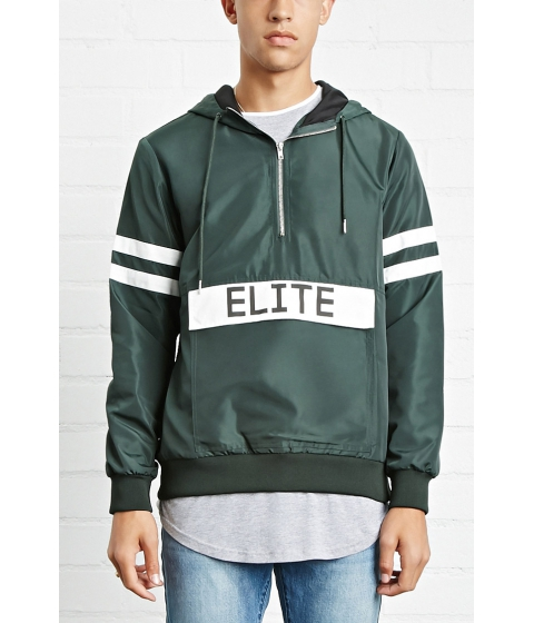 Imbracaminte Barbati Forever21 Elite Graphic Windbreaker Greenwhite