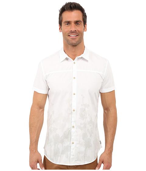 Imbracaminte Barbati Calvin Klein Slim Fit Faded Floral Print Short Sleeve Shirt White