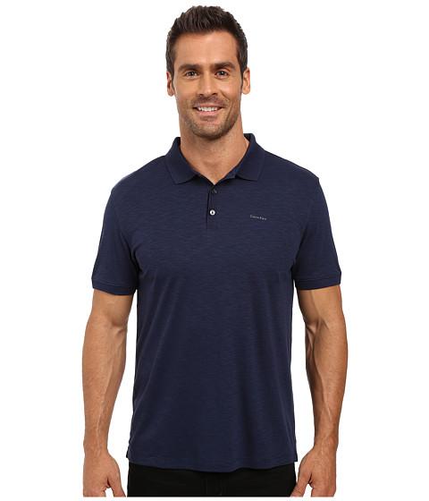 Imbracaminte Barbati Calvin Klein Short Sleeve Flat Knit Placket Cotton Tencel Polo Atlantis