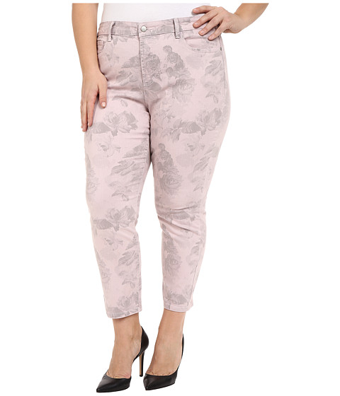 Imbracaminte Femei NYDJ Plus Size Ira Ankle in Pink Floral Pink Floral