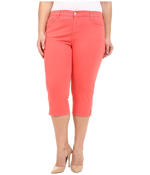 Imbracaminte Femei NYDJ Plus Size Ariel Crop in Coral Branch Coral Branch
