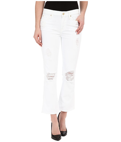 Imbracaminte Femei 7 For All Mankind Cropped Boot w Destroy in Clean White 3 Clean White 3