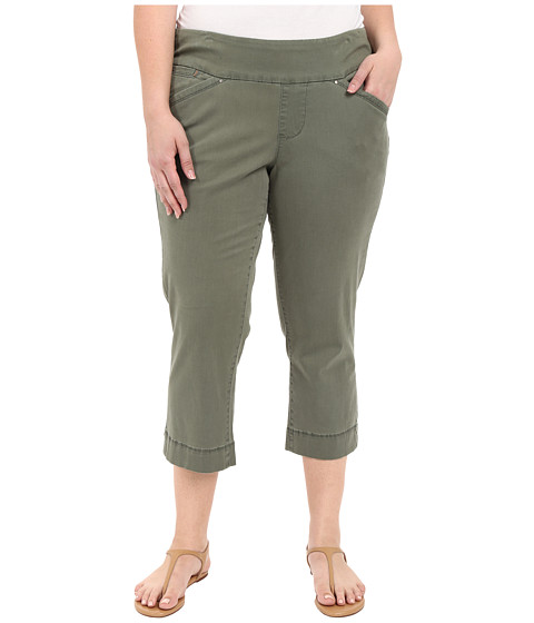 Imbracaminte Femei Jag Jeans Plus Size Marion Crop in Bay Twill Jungle Palm