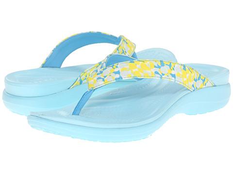 Incaltaminte Femei Crocs Capri V Deco Flip Ice Blue