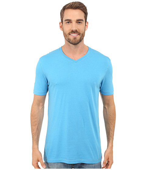 Imbracaminte Barbati Agave Denim Prosser Supimareg V-Neck Mediterranean Blue