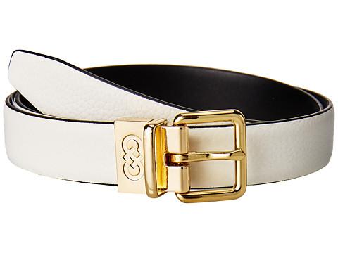 Accesorii Femei Cole Haan 25mm Reversible Feather Edge Belt IvoryBlack
