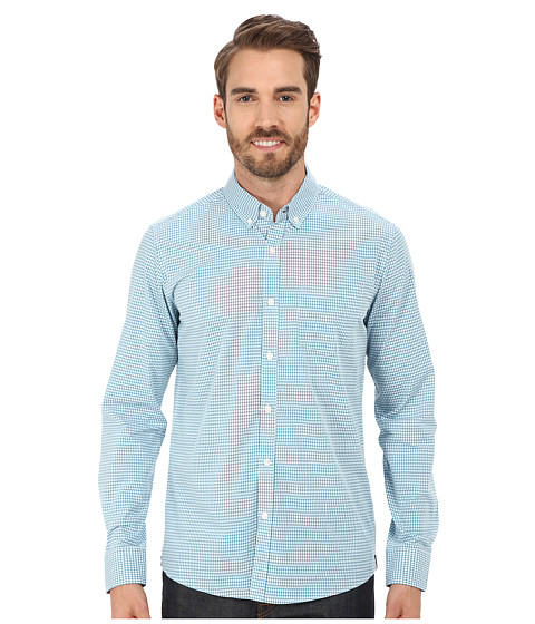 Imbracaminte Barbati Kenneth Cole Long Sleeve Slim Button Down Promo Teal Combo