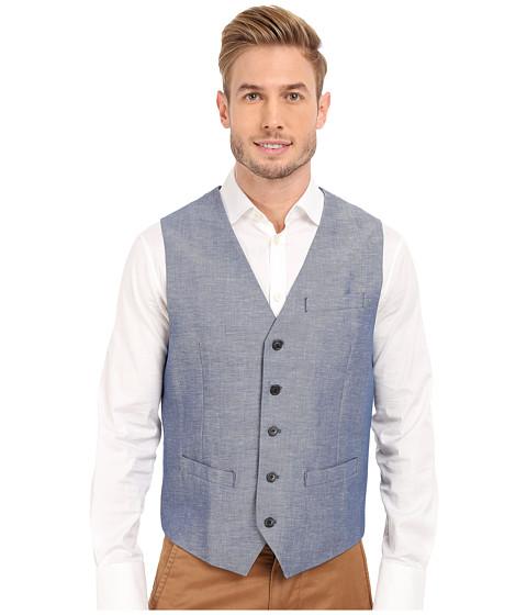 Imbracaminte Barbati Perry Ellis Linen Cotton Twill Suit Vest Blueprint