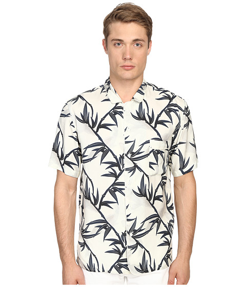 Imbracaminte Barbati Marc Jacobs Shadow Leaf Classic Short Sleeve Button Up Off-White Multi