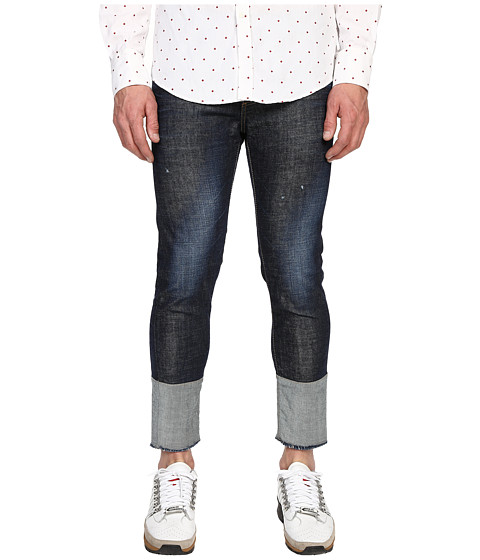 Imbracaminte Barbati DSQUARED2 Dark Easy Wash Five-Pocket Skinny Jeans Blue
