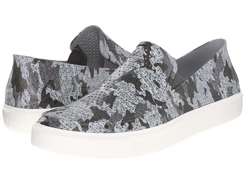 Incaltaminte Barbati Crocs CitiLane Roka Camo Slip-On GraphiteWhite