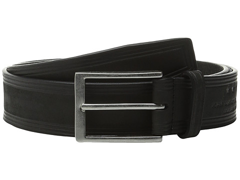 Accesorii Barbati John Varvatos 35mm Nubuck Heat Crease Detail Belt Black